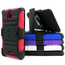 For Huawei Ascend Plus H881c Valiant Y301 Rugged Hybrid Case Belt Clip Holster