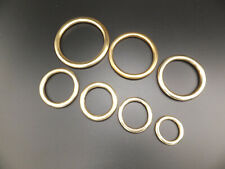[ X 5 ] Cast Solid Brass O Rings Leather craft  YOUR CHOICE of 6 SIZES