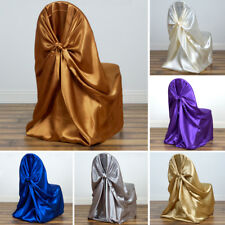 25 pcs SATIN UNIVERSAL CHAIR COVERS High Quality Wedding Party Ceremony Supplies