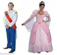 MENS LADIES ROYAL PRINCE CHARMING FAIRY TALE BOOK PRINCESS FANCY DRESS COSTUME