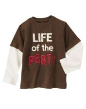 "NWT Gymboree ""Life Of The Party"" Double Sleeve T-Shirt Empire State Size 5 or 6"