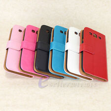 For Samsung Galaxy S3 SIII i9300 Flip Leather Magnetic Stand Wallet Case Cover