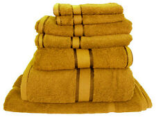 Mustard 100%  Cotton Bath Towel Range 7 Pieces Set or Single Pieces Choice