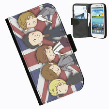 One Direction Leather wallet case for Samsung Galaxy S4 I9500 and I9505 phone 1D