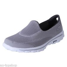 Cheap Skechers Womens Comfortable Walking Shoes Causal Loafers GoWalk2 Grey