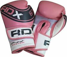 Authentique RDX Mesdames Rose Pro Gel Gants de boxe MMA Sac Womens Gym Tapis FR