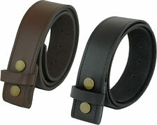REAL LEATHER ASHFORD RIDGE PRESS STUD SNAP ON CLIP BELT BLACK BROWN OWN BUCKLE