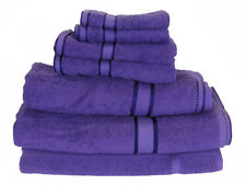 Purple 100%  Cotton Bath Towel Range 7 Pieces Set or Single Pieces Choice