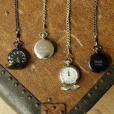 CUSTOM QUARTZ MOVEMENT POCKET WATCH PERSONALIZED GIFT  FOUR STYLES FREE SHIPPING