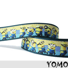 "1""25mm Despicable Me Printed Grosgrain Ribbon 10/50/100 Yards Hairbow Wholesale"