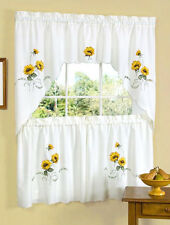 Sunshine Embellished Kitchen Curtain Tier and Swag Set By Achim Importing Co.™