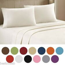 4 PC Bed Sheet Set Queen King Cal King Deep Pocket Sheets or 2 Soft Pillowcases