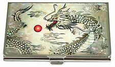 Mother of pearl Business credit card holder ID case15 dragon & animals designs