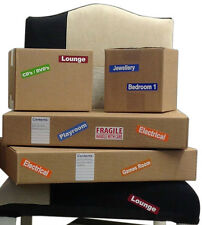 Colour Coded Furniture & Removal / Storage Box Labels For Moving House