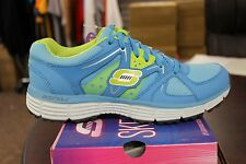 Skechers Sport Agility New Vision 11694 Blue Lime Brand New In Box Lightweight
