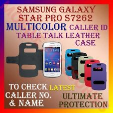 CALLER ID TABLE TALK CASE SAMSUNG GALAXY STAR PRO S7262 MOBILE FLIP FLAP COVER