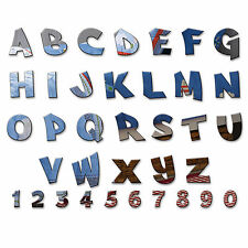 Acrylic Mirror Alphabet Letters Name Plaques for Childrens Bedroom Door or Wall