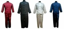 chinese men's kung-fu tai-chi Clothes jacket coat Pants suit size S-XXL