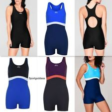 Slazenger Ladies Long Leg Swim Suit Swimming Costume Swimmers 6-22 Triathlon