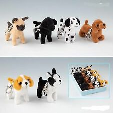 Doggy Love Little Plush Dog Pendants with Snap Hook 6 Different Dogs Depesche