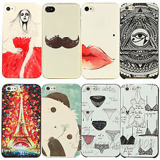 Paint Various Pattern Phone Hard Back Skin Case Cover for Apple IPhone4 4S 5 5S