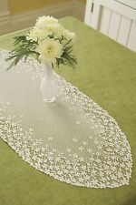 """Heritage Lace Blossom Runner 12"""" x 38"""" - Colors: Ecru and White"""