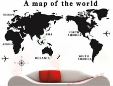 Fashion Home Decoration Removable World Map Wall Sticker Decals Wall Decor