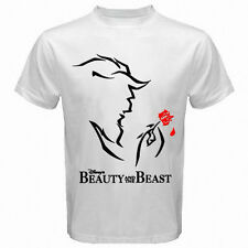 NEW BEAUTY AND THE BEAST VINTAGE Standard Adult White T-Shirt S to 5XL