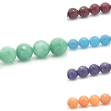 "1 Strand Agate Loose Beads Faceted Round 12mm( 4/8"") Dia.M1022"
