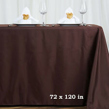 "30 pcs Wholesale Lot 72x120"" RECTANGLE POLYESTER TABLECLOTHS Wedding Supplies"