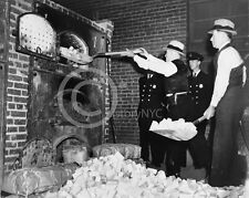 1936 DRUG BUST HEROIN FEDERAL AGENTS PHOTOGRAPH Largest Size