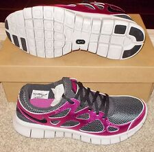 NEW NIKE FREE RUN+ 2 PREMIUM EXT IPOD Running WOMENS Black Rave Pink $125 LTD