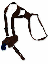 "NEW Barsony Brown Leather Horizontal Gun Shoulder Holster for S&W 2"" Snub Nose"