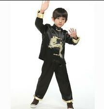 4 Colors Chinese Boy's Kungfu Dragon Shirt Pants Suit Sz: 2 4 6 8 10 12 14 16