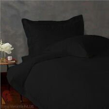 DELUXE SOFT BLACK 1000TC EGYPTIAN COTTON COMPLETE BEDDING COLLECTION IN ALL SIZE