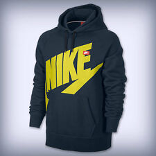 MEN'S Nike   AW77 LOGO PULLOVER  586182-461 Armory Navy/Sonic Yellow