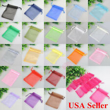 "3x4"" Lot of 50/100/200PCS Organza Gift Candy Bags Wedding Favors Jewelry Pouches"