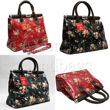 Gessy KELLY Doctor FIORI FLORAL PATTERN tessuto incerato SHOULDER BAG