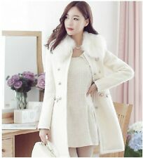 Hot Sale Fashion Woman Slim Nagymaros collar double-breasted wool coat jacket
