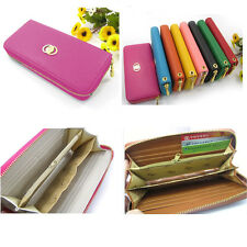 New Lady Faux Leather Wallet Clutch Long Handbag Phone Case for Iphone Galaxy