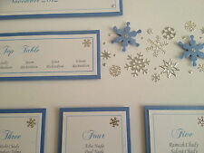 Winter/Christmas Snowflake Table Plan Light Blue