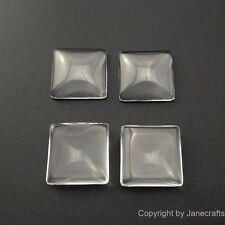 50-500pcs 15-35mm Clear Square Glass Cabochons Flat Back Fit Cameo Settings Lot