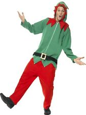 Adult Elf Outfit Fancy Dress Costume Christmas Xmas Mens Gents Male