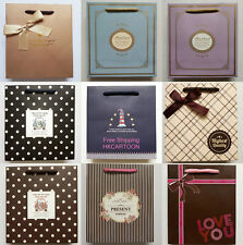 Korean Lovely Thanks For You Gift Paper Bag Party Holiday Paper Gift Bags