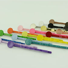 "200 - 2""/2 Inch - Enamel Bobby Pins/Hair Pins CHOOSE COLOR with Glue Pads (8mm)"