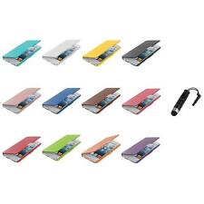 For iPod Touch 5th Gen 5G 5 Wallet Leather Hard Cover Case Pouch+Stylus Plug