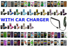 Car Charger+Designed Skin Hard Case For Samsung Galaxy Precedent SCH-M828C Phone