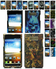 Any Designed Rubber Feel Skin Hard Case For LG OPTIMUS L7 P705/P705G/700 Phone