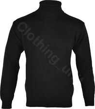 """Mens """"Roll"""" Turtle Polo Funnel Neck Jumper Knitted Winter Top"""
