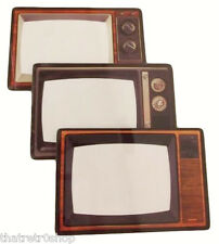 "Vintage Retro TV 1970s Look Glass Picture Photo 6"" x 4"" Frame Kitsch Great Gift"